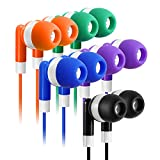 Earbuds Bulk 30 Pack Multi Color for Kids - Keewonda Classroom Earbuds Wired Stereo in Ear Wholesale Earbuds Headphones Earphones for Children Students Teachers School