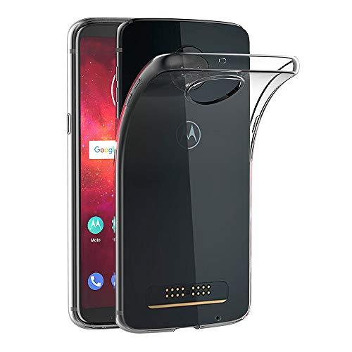 AICEK Hülle Compatible für Moto Z3 Play Transparent Silikon Schutzhülle für Motorola Moto Z3 Play Hülle Clear Durchsichtige TPU Bumper Moto Z3 Play Handyhülle (6,01 Zoll)