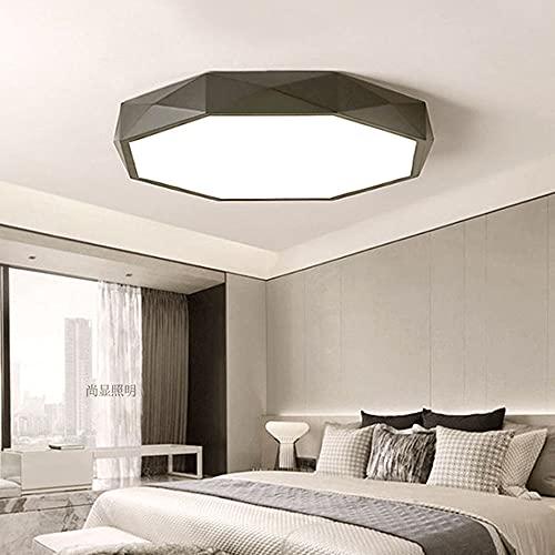 Ceiling light Plafón LED Plafón LED Empotrado Moderno, Sencillo y Elegante Luz de Dormitorio Regulable Plafón LED Ultrafino Negro/Blanco