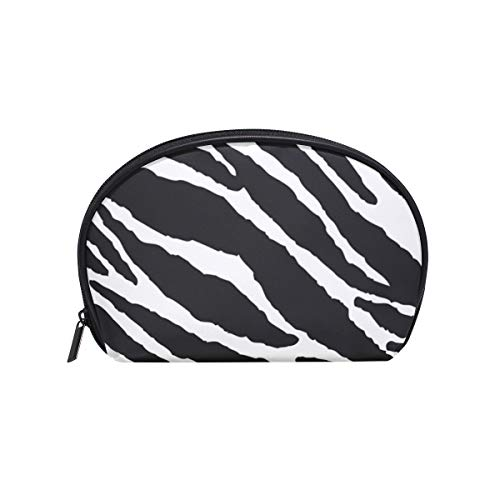 MONTOJ Animal Skins Zebra Print bolsa de maquillaje de viaje Organizador de artículos de tocador