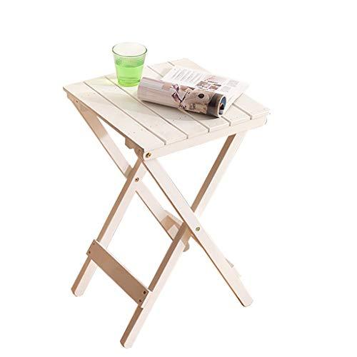 YINUO Nordic Simple Cadre De Fleur En Bois Massif Salon Balcon Paresseux Table Pliante Table Basse En Plein Air Petite Table