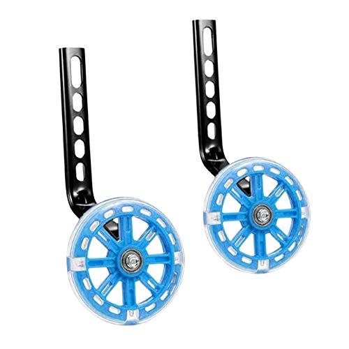 Pair of Bike Mute Training Wheels, for 12 14 16 18 20 inch Single Speed Bike for Kids Boys Girls - Blue