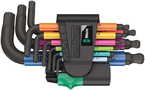 Wera 05133164001 950/9 Hex-Plus Multicolour 2 Winkelschlüsselsatz, kurz