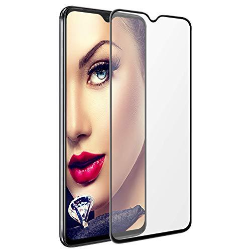 mtb more energy® 5D Protector Curvado de Vidrio Templado para Samsung Galaxy Note 10 (SM-N970, 6.3'') - Negro - 100% de adhesión - con rebaje para Sensor de Huella Dactilar