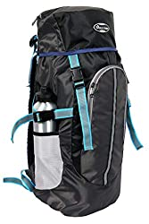 POLESTAR Hike Black 44 Ltr Rucksack With Rain Cover For Trekking Hiking Travel Backpack,JAE