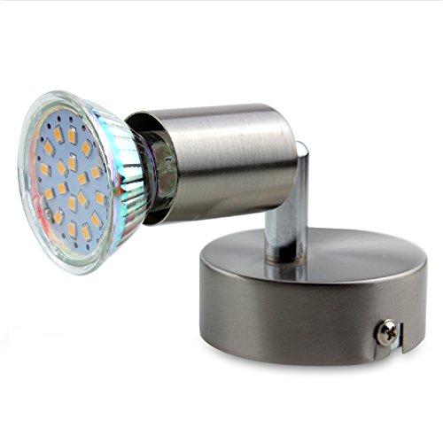 LED Lampada Da Parete Soffitto Power LED Faretto Lampada parete Plafoniere in Nichel Satinato