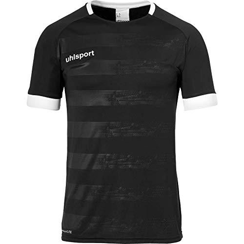 uhlsport Herren Division 2.0 Trikot Kurzarm Fussball Trainingsbekleidung, schwarz/weiß, 152