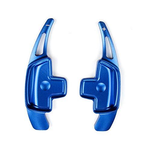 ADFIOADFH 2 unids Aluminio Aluminio Volante Paleta extensión/Ajuste para Mercedes Benz A B C E GLE Class W176 W205 W246 C117 W218 (Color : Blue)