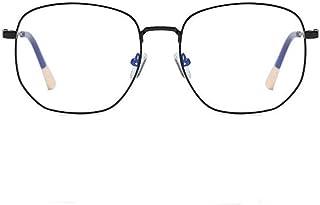 MTYJ Anti Blue Light Metal Bril Vrouwen Big Frame Optical Spectacles Computer Brillen -7.25 (Frame Color : Black, Size : M...