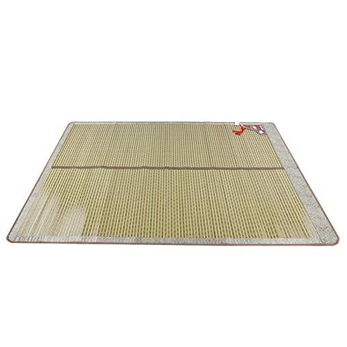 Shipenophy La Superficie es Lisa Colchones de bambú Diseño Plegable de Doble Cara Fácil de almacenar Exquisito Borde Plano sin Rebabas Bambú Natural Múltiples(150 * 195cm)