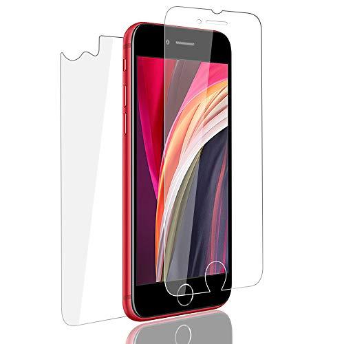 PaceBid 2 Stück Panzerglas Kompatibel mit iPhone SE 2020 Schutzfolie + Panzerglas Rückseite, Tempered Glass [9H Härte] [Anti-Fingerabdruck] [Ultra-klar] Displayschutzfolie für iPhone SE 2020