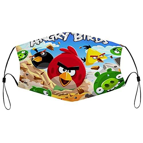Best-design Angry Birds Mascarilla facial reutilizable lavable Bandana bufanda pasamontañas cuello polaina ajustable orejeras hombres mujeres adultos