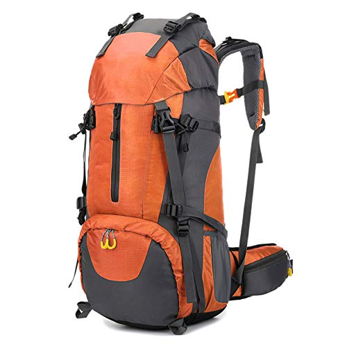 LZQBD 1Pcs 60L Hiking Rucksack, Trekking Backpack, Water-Resistant Men Outdoor Backpack, Mountaineering Climbing Bag with Shoe Bag D/E/As Shown