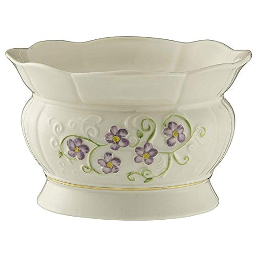 Belleek Pottery Floral Irish Flax Bowl