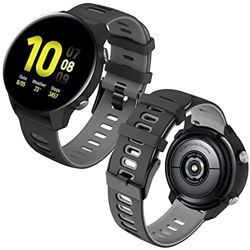 Th-some 20mm Correa Compatible con Samsung Galaxy Watch 4/Watch 4 Classic/Watch 42mm/Watch 3 41mm/Watch Active2 40mm 44mm,Banda Repuesto Silicona Pulsera para Vivoactive 3/Gear S2 Frontier/Classic