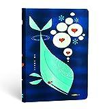 Paperblanks Notizbuch mit Lesebändchen & Innentasche | Wal und Freund | Midi (170 x 120 mm) | 176 Seiten | Liniert