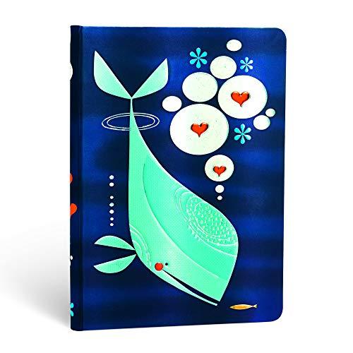 Paperblanks Notizbuch mit Lesebändchen & Innentasche | Wal und Freund | Midi (170 x 120 mm) | 176 Seiten | Unliniert