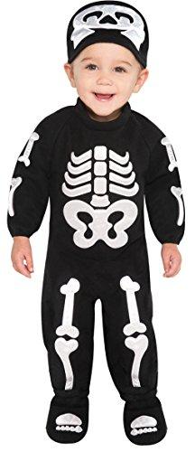 amscan- Déguisement-Bébé-Squelette, 999675, 6-12 Mois