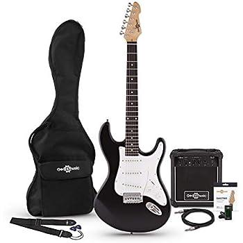Set de Guitarra Electrica LA + Amplificador Negra: Amazon.es ...