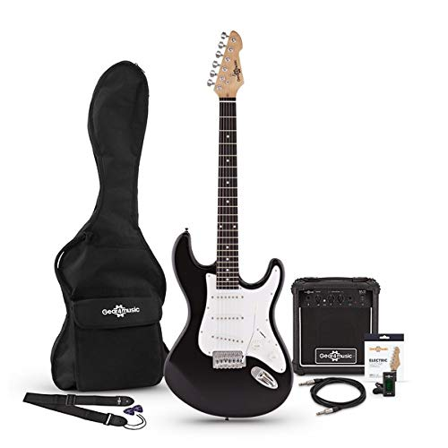 Set de Guitarra Electrica LA + Amplificador Black