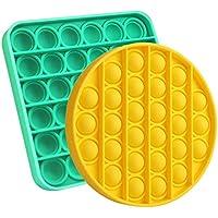 Asonway Push Pop Bubble Fidget Toy (Green+yellow)