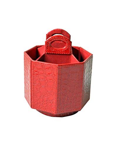 Portamandos Giratorio de Color Rojo. Estilo Moderno y Colorido.Muy Práctico 17x15x15cm.-Hogarymas-