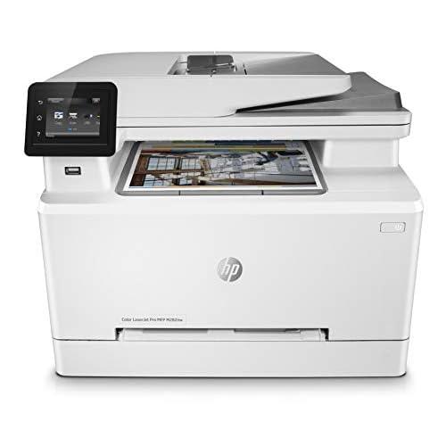 HP Color LaserJet Pro M282nw, Stampante Wi-Fi Multifunzione, Fino a 21 ppm, fronte/retro automatico, ADF, Display Touchscreen, Bianca