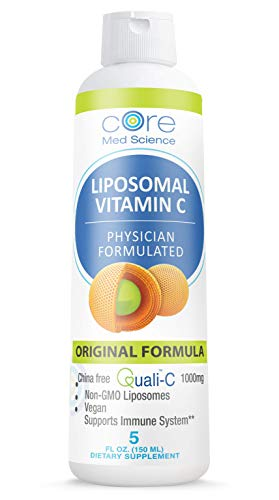 Liposomal Vitamin C 1000 mg Liquid - Formed LIPOSOMES - Original Formula - Quali-C Vitamin C from Scotland- Made in The USA - Optimized Absorption - Immune Support - Non-GMO Vegan 30 Servings