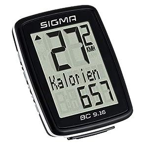 Sigma 09160 Cuenta Kilómetros, Unisex adulto, Negro, Única