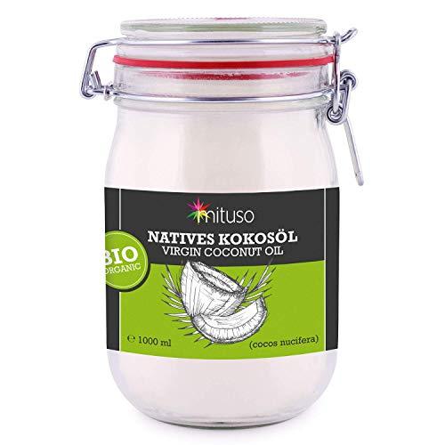 Mituso Huile de noix de coco vierge biologique 1 litre (1 x 1000 ml)