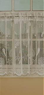 Ben & Jonah Corales de Marina by Ben&Jonah Knitted Jacquard Sheer Lace Tier Pair (56
