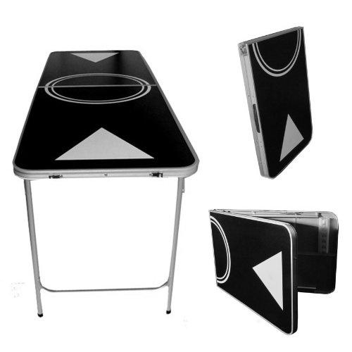 Portable Beer Pong Table - 6 Feet with Ball Rack & 6 Pong Balls!