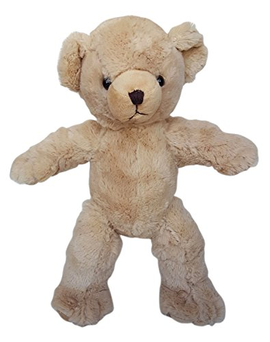 Make Your Own Stuffed Animal Cuddly Beige Bear Kit 16'- No Sew - Kit with Cute Backpack!