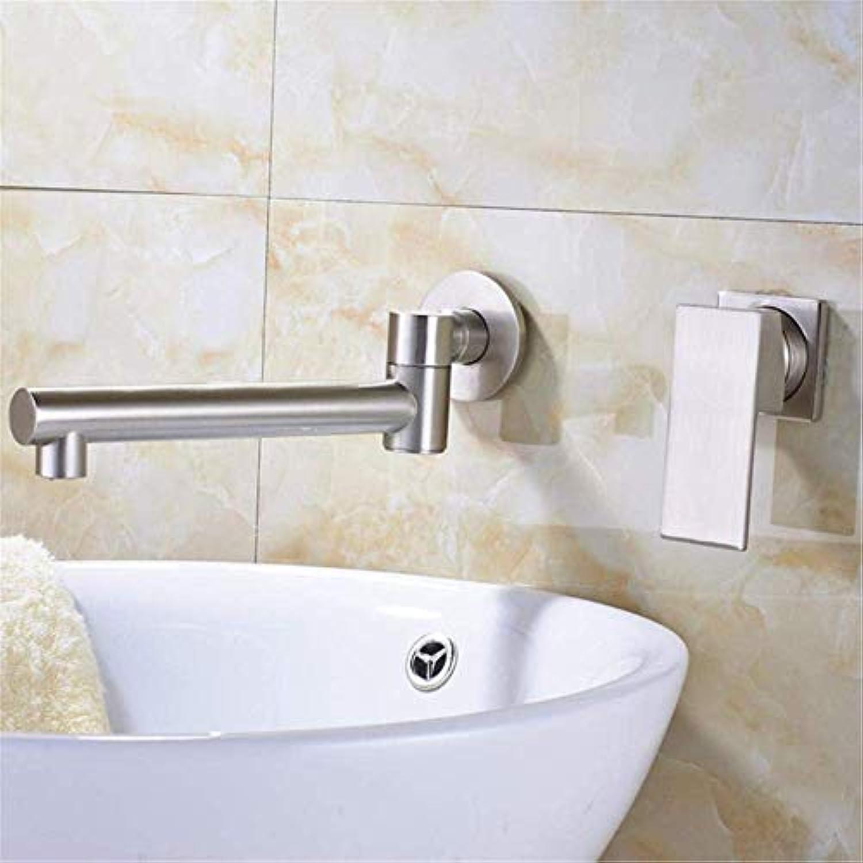 Stilvolle, Spa Waschbecken Wasserhahn gebürstetem Nylon rotierenden Düse Waschbecken Wasserhahn Einhand-Wasserhahn Doppelloch-Wasserhahn Einhebel-Wasserhahn Messing Waschbecken Wasserhahn