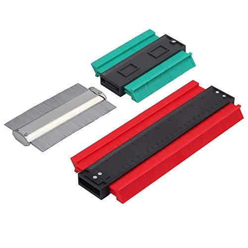 AUTOUTLET 型取りゲージ 3個セット 120mm/150mm/250mm コンターゲージ 「AUTOUTLET」は唯一の正規販売者です!偽物販売者にご注意!!!型取り定規 高精度 マグネット磁石付き 曲線定規 形状 磁気/金属/プラスチック製 カー