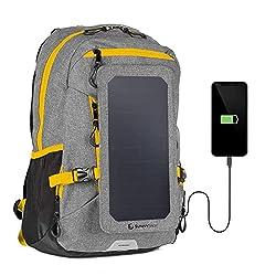 Use las mochilas solare:fuente de energía alternativa