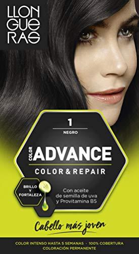 Llongueras Advance Tinte de Cabello Permanente Tono #1 Negro