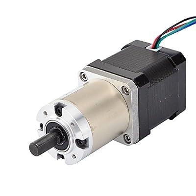 STEPPERONLINE 51:1 Planetary Gearbox Nema 17 Gear Stepper Motor Bipolar L=48mm for CNC DIY Router