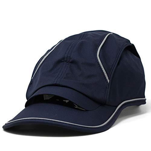 (エアピーク) airpeak キャップ CAP ランニングキャップ ランニング アスリート リフレクター 春夏 秋冬 サイズ:フリーサイズ (55-60cm) ネイビー