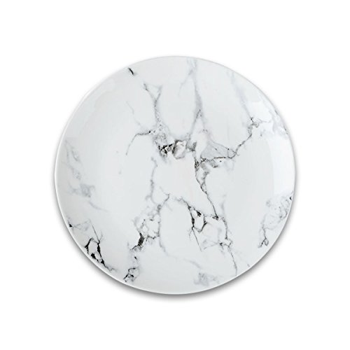 Oumosi Marbre Assiettes en céramique 20,3 cm Assiettes en marbre Plateau rond