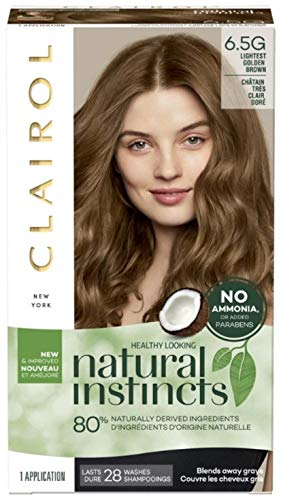 Clairol Natural Instincts Hair Color, [6.5G] Lightest Golden Brown 1 Each (Pack of 2)