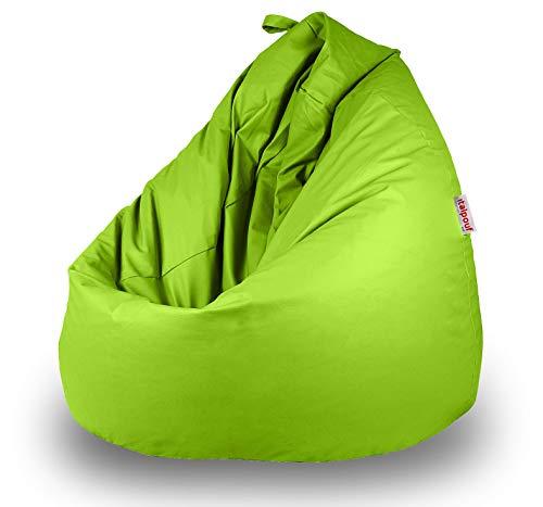 Italpouf Puff Pera de Polipiel XXL 100 x 130 cm 500l Indoor Muy Resistente Moldeable con Relleno