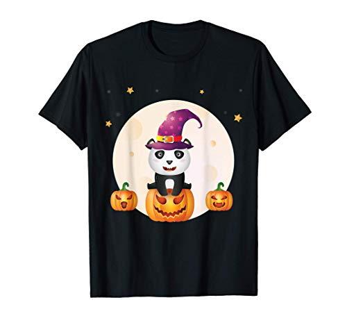Lindo bebé panda Divertido disfraz de Halloween de última ho Camiseta