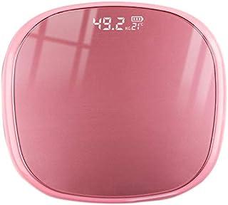 Cuasting Báscula de grasa corporal inteligente digital de peso con aplicación de oro rosa