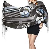 AndrewTop Hiver Écharpes Chaud Pashmina Retro Hot Rod Classic Muscle Car Roue Géante Hobby Passion Impression Automobile Glands Etoles Châles