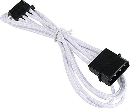 BitFenix Molex Verlängerungskabel, 45 cm weiß/schwarz