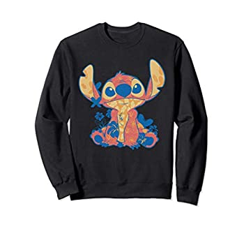 Disney Lilo & Stitch in Hawaiian Floral Print Sweatshirt