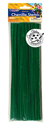 Creativity Street Regular Stems, Dark Green, 12-in x 4-mm (AC711208)