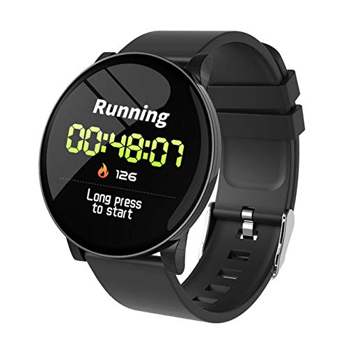 Metermall W8 Smart Watch Ladies Weather Forecast Fitness Sports Tracker Heart Rate Monitor Smartwatch Android Women Men's Watches Smart Bracelet black