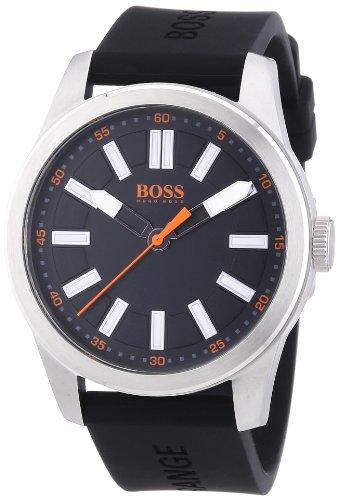 Boss Orange Big Up 1512936 - Reloj analógico de Cuarzo para Hombre, Correa de Silicona Color Negro